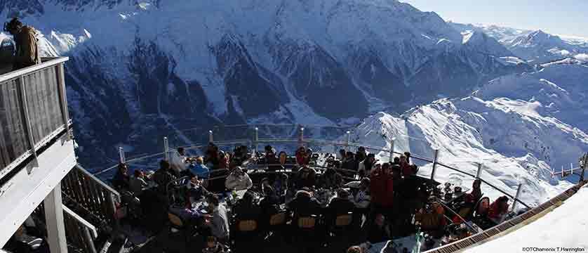 Apres view of Mont Blanc